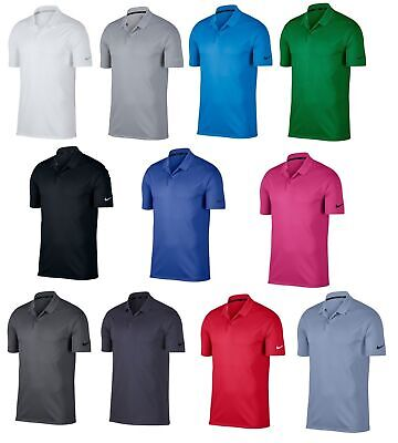 69215cd3 2019 MENS NIKE GOLF Dri-Fit VICTORY SOLID Polyester Polo SHIRT 891881