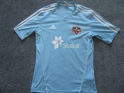 Houston Dynamo's Goalkeeping Shirt Light Blue adidas Size Small Circa 2013