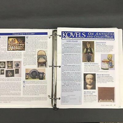 Kovels On Antiques & Collectibles Monthly Newsletter Lot of 128 Total 1991-2002