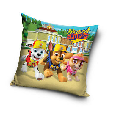 PAW PATROL Chase Skye Marshall Beach Pups cushion cover 40x40cm pillow cover