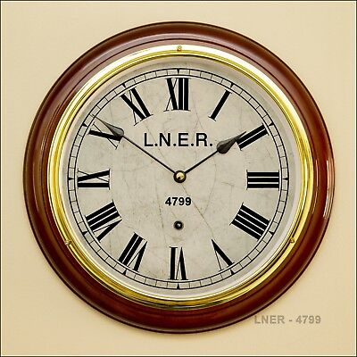 LNER TRAIN STATION CLOCK (replica) Seiko Quartz Movement. New. Free UK Shipping