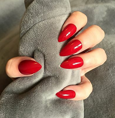 FALSE NAILS - Deep Red - Stick On - The Holy Nail
