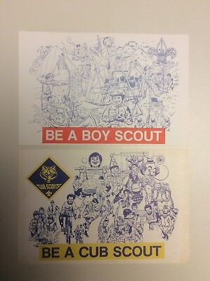 BSA Be A Boy Cub Scout Vintage Recruitment Post Card Lot, Troop Pack Invitation