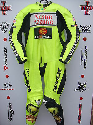 Genuine Dainese Rossi 1 piece race suit with hump uk 44 euro 54