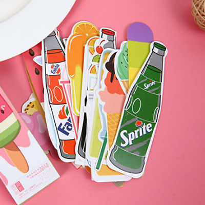 30pcs Cute Candy Bookmarks Paper Clip Office School Stationery Supply Gift HS