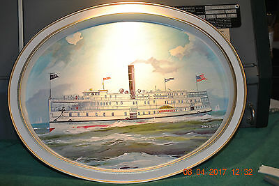 Steamboat Middlesex - Compliments Of Middlesex Bank - Vintage Metel Serving Tray