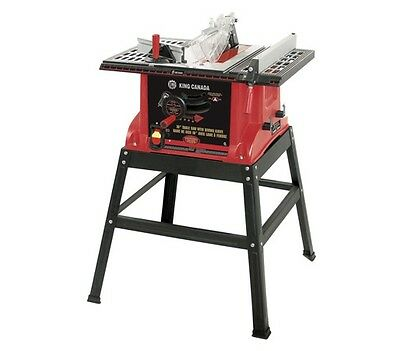 """King Canada Tools KC-5005R 10"""" TABLE SAW WITH STAND AND RIVING KNIFE 15 amps NEW"""
