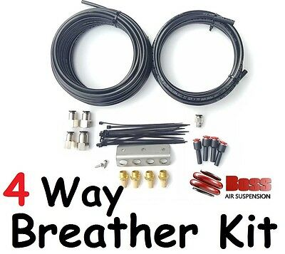 BOSS 4-Way Diff Gear Box and Transfer Case Breather Kit - for most vehicles New