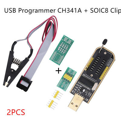 SPI USB To TTL 24/25 Series USB Programmer EEPROM BIOS Writer CH341A SOIC8 Clip