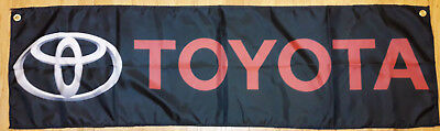 Toyota Flag Garage Man Cave Automotive Banner 58X17 Inches