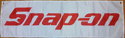Snap on Banner Garage Automotive Man Cave Flag 58 X17 Inches