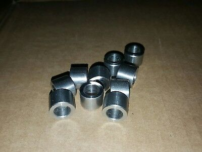 "(10 pcs) stainless steel spacer / bushing 1/2"" OD x  5/16"" ID x 3/8"" long / tall"
