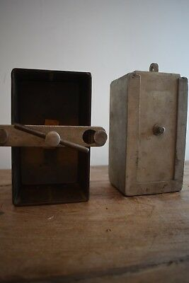 industrial metal box and press