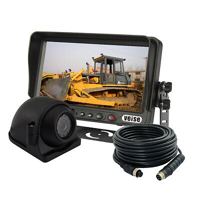 """Cement Truck 7"""" Rear View Backup Camera System, Reverse, For Skid Steer"""