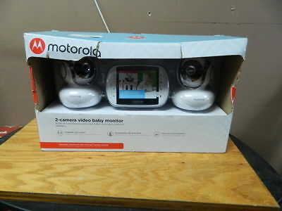 Motorola MBP36S-2 Video Baby Monitor With 2 Cameras 3.5 Inch LCD Screen