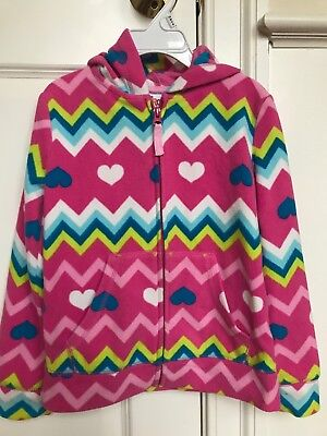Girls Fleece Zip Front, Hooded Jacket, Size 6/6x, Pink