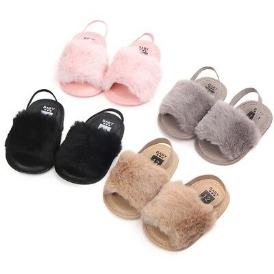 Toddler Baby Fluffy Soft Comfy Shoes Kids Girls Boys Fall Winter Warm Shoes