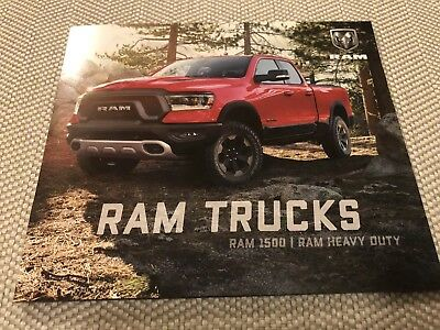 2019 DODGE RAM 1500 RAM HEAVY DUTY 12-page Original Sales Brochure (small)