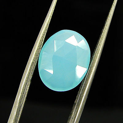 2.10 Ct Natural Blue Chalcedony Loose Faceted Gemstone Beautiful Stone - 10786