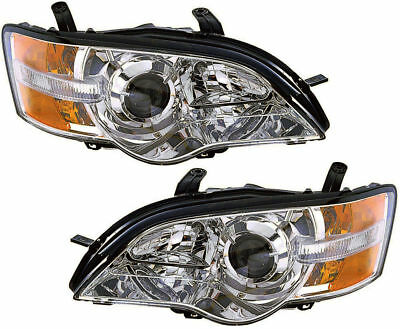 New Depo Driver & Passenger NSF Headlight Set For 2006-07 Subaru Legacy Outback