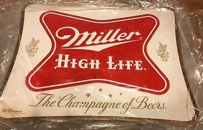 "Miller High Life ""The Champagne of Beers"" Metal Beer Sign"