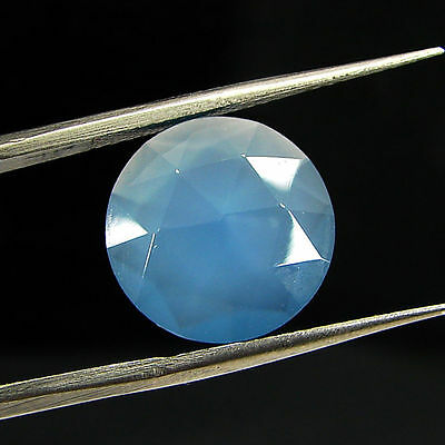 3.65 Ct Natural Blue Chalcedony Loose Faceted Gemstone Beautiful Stone - 10767
