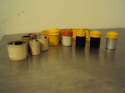 Vintage Kodak Metal Film Canisters and Shipping Bag
