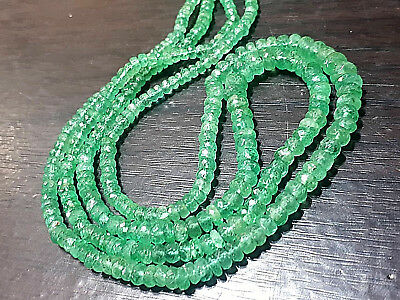 TOP Big Size Grade Colombian Natural translucent Emerald Gemstone Bead Strand