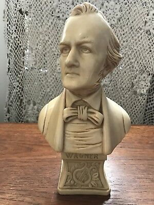 Vintage Richard Wagner Composer Bust Made by A.L.Faro Italy