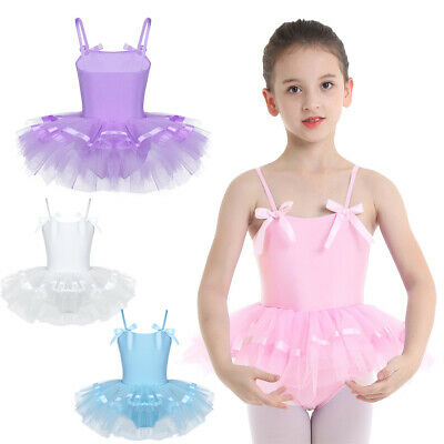 Toddler Girls Ballet Leotard Skirt Tutu Dress Gymnastics Ballerina Dance Costume