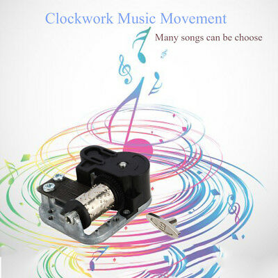 Clockwork Music Box Wind Up Musical Movements Parts Xmas Decors Collectibles BIN