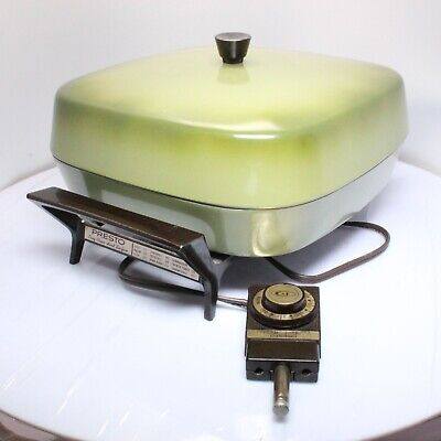 Mid Century Modern Green Indoor Breakfast Cooking Griddle by Presto Model PC05AT