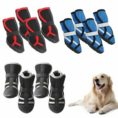 4Pcs Pet Dog Shoes Boots Booties Autumn Winter Outdoor Non-slip Paws Protector