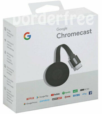 Google Chromecast Streaming Lecteur Multimédia (3nd Génération - 2018 Version) ✔