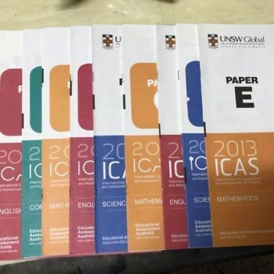 2018 ICAS Past Papers Sets Years 2 to 9 (Intro,A,B,C,D,E,F,G)