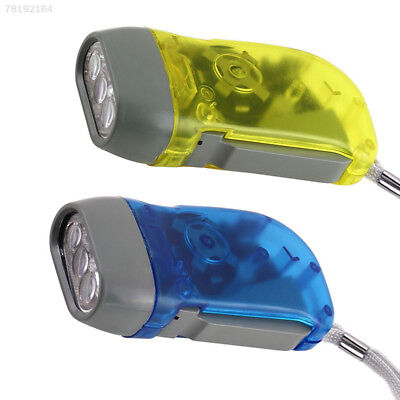 0775 3 LED Dynamo Wind Up Flashlight Torch Light Hand Press Multicolor Useful