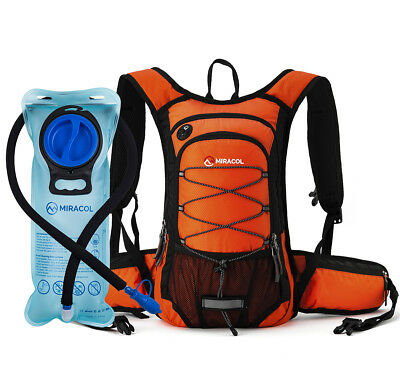15L Hydration Backpack pack with 2L BPA Free Water Bladder for Hiking Camping