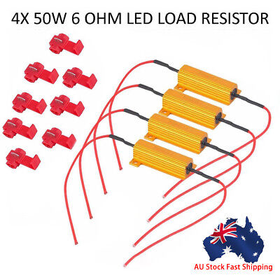 4pcs LED Indicator Flasher Relay Load Resistor Bulbs Ballast 50W 12V 6Ω