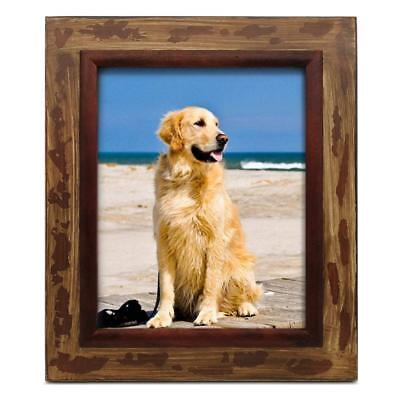 Rustic Barn Wood Picture Frame Tabletop Wall Hanging Photo Frames 8x10 inch