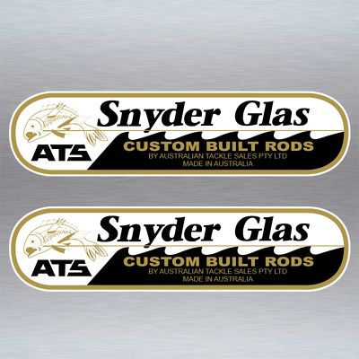 Snyder Glas ATS Stickers x 2 Australian Tackle Sales fishing tack decal #S031