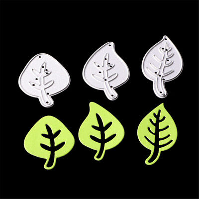 3X Leaves Design Metal Cutting Dies For DIY scrapbooking Embossing Decorative KQ