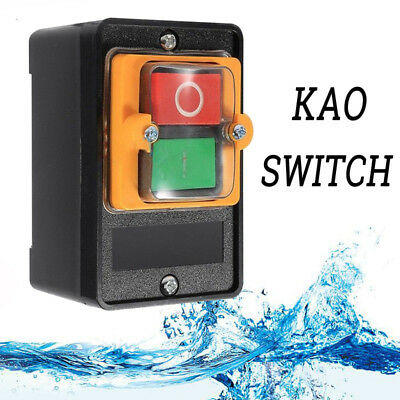 10A 380V KAO-5 Water Proof ON/OFF Push Button Machine Drill Switch Motor DL