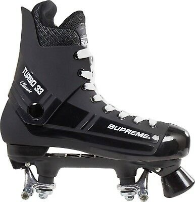 "SUPREME ""Turbo 33"" Quad Roller Skates BOOT/PLATE only NO WHEELS 4 to 13 UK Quad"