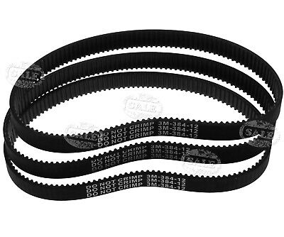 3 pcs HTD 384-3M-12 Drive Belt Kit Replacement For Escooter Electric Scooter