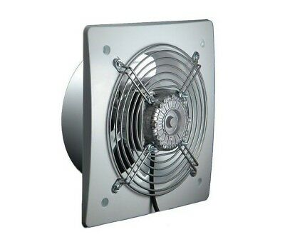 White Silent Industrial Extractor Fan 200mm Commercial Axial Ventilator 450m3/h