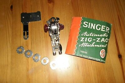 Vintage Singer Sewing Machine Zig Zag Attachment With Booklet - Mint Condition