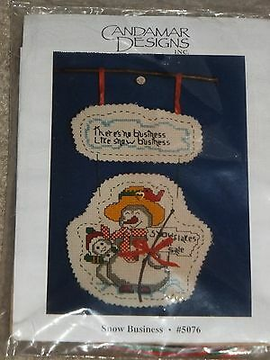 Candamar Designs Winter Snow Business Counted Cross Stitch Kit