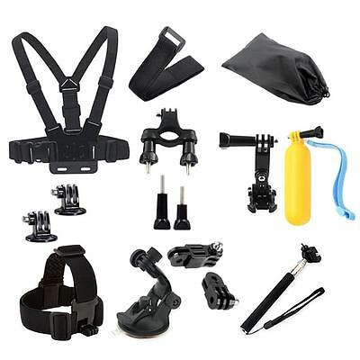 Head Chest Mount Floating Monopod Pole Access for GoPro kit Hero 1/2 3/4 Camera
