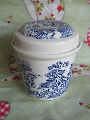 Vintage Masons Willow Pattern Pot Storage Jar Tea Caddy Ringtons