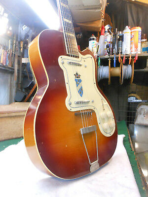 Vintage 1960's Kay Silvertone Model 1382L Thin Twin Jimmy Reed Electric Guitar